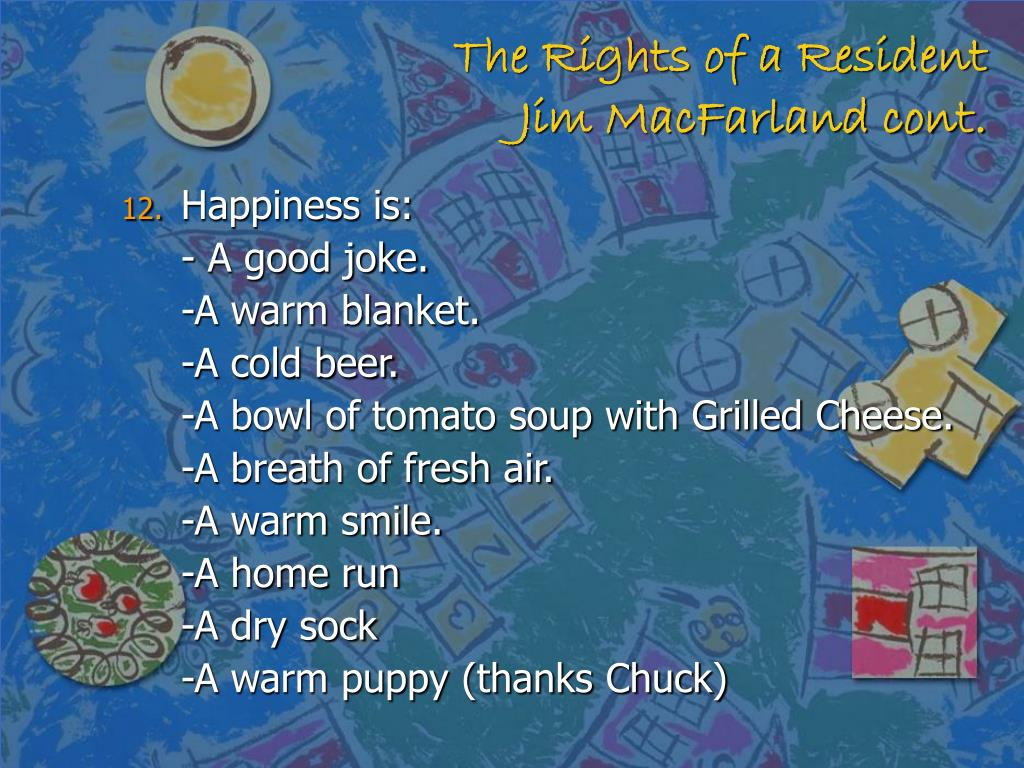 The Rights of a Resident
