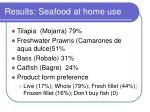 results seafood at home use