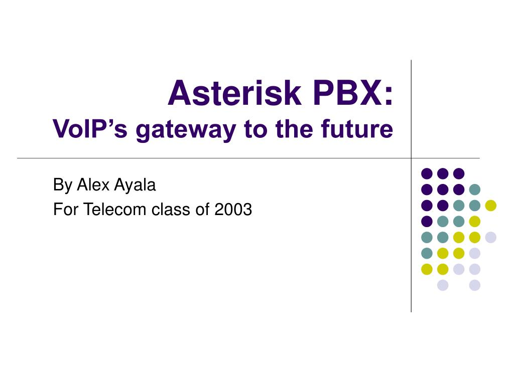 asterisk pbx voip s gateway to the future l.