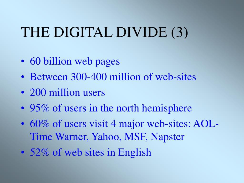 THE DIGITAL DIVIDE (3)