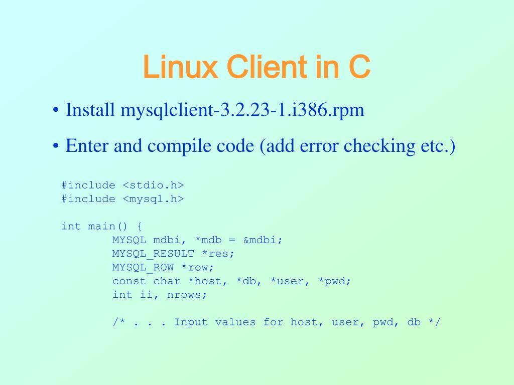 Linux Client in C