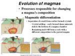 evolution of magmas42