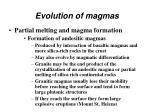 evolution of magmas45