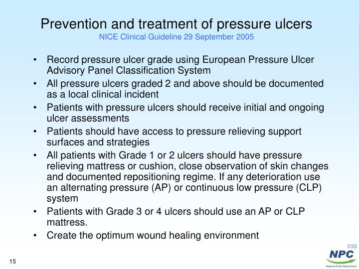 prevention and treatment of pressure ulcers Pressure ulcer prevention and management policy version 5 page 4 of 28 1 executive summary 11 this policy provides a framework for the prevention and treatment.