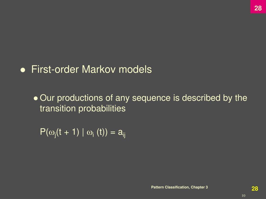 First-order Markov models