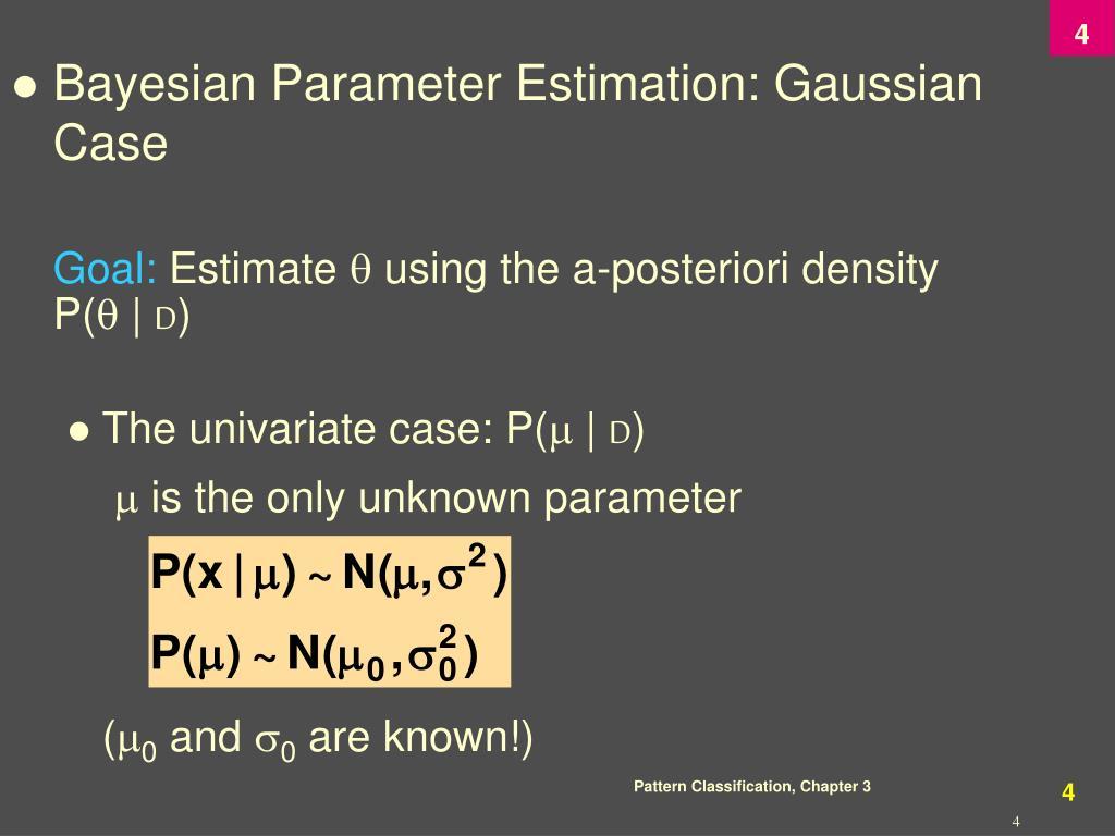 Bayesian Parameter Estimation: Gaussian Case