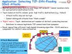 application detecting tcp syn flooding ddos attacks