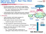application robust real time ddos attack detection