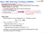 basic ams sketching technique ams96