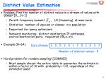 distinct value estimation
