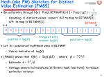 hash aka fm sketches for distinct value estimation fm8564