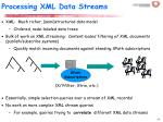 processing xml data streams