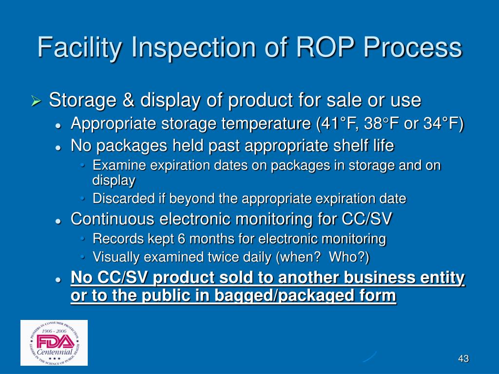 Facility Inspection of ROP Process
