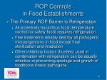 rop controls in food establishments