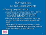 rop controls in food establishments31