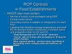 rop controls in food establishments36