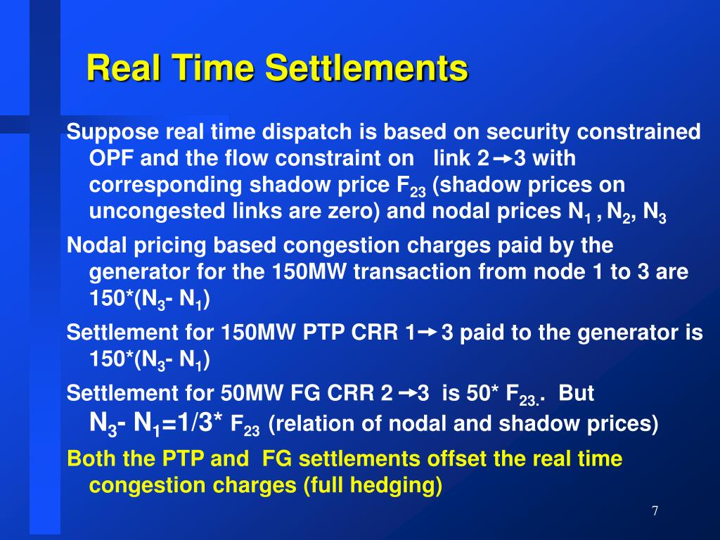 Real Time Settlements