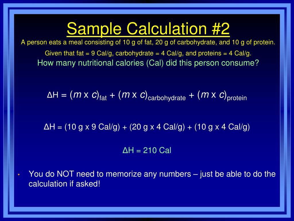 Sample Calculation #2