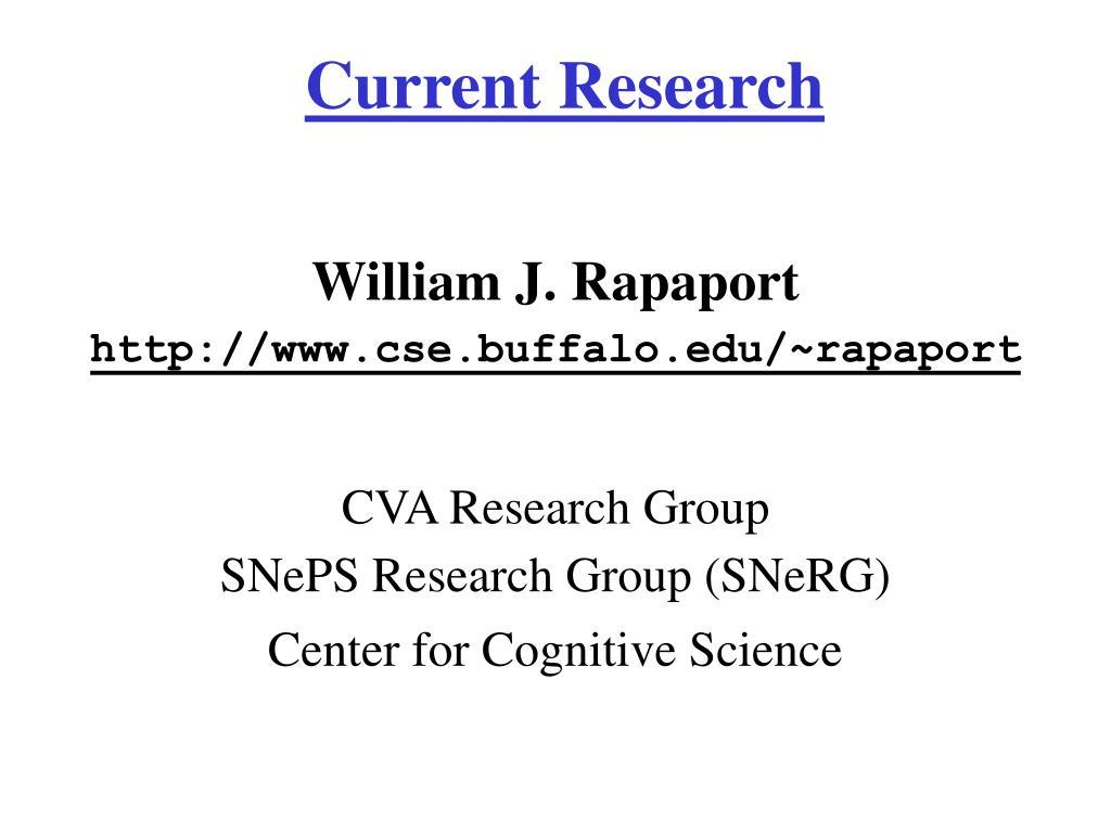 current research l.
