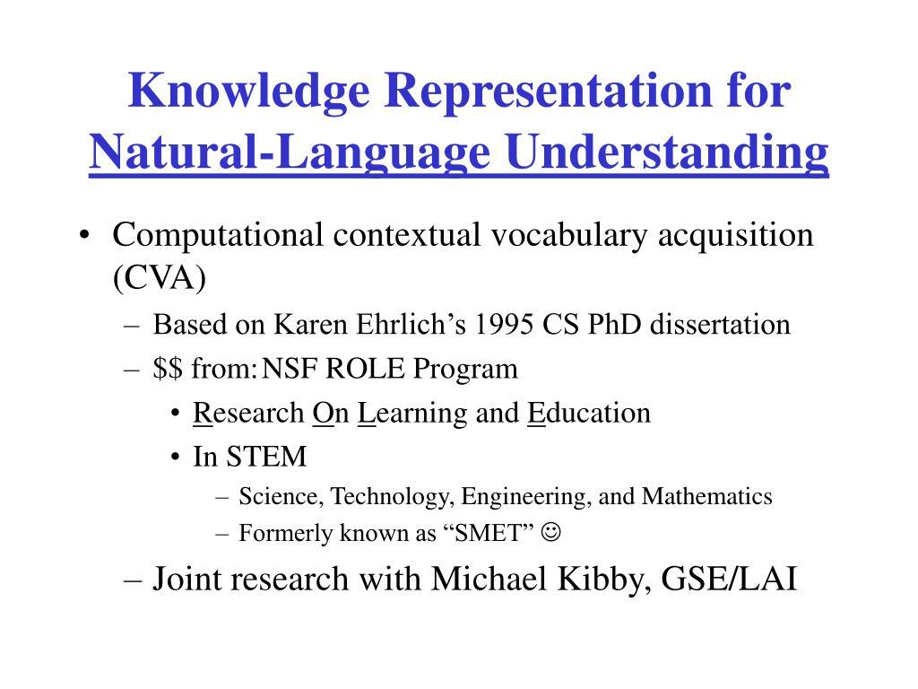 Knowledge Representation for