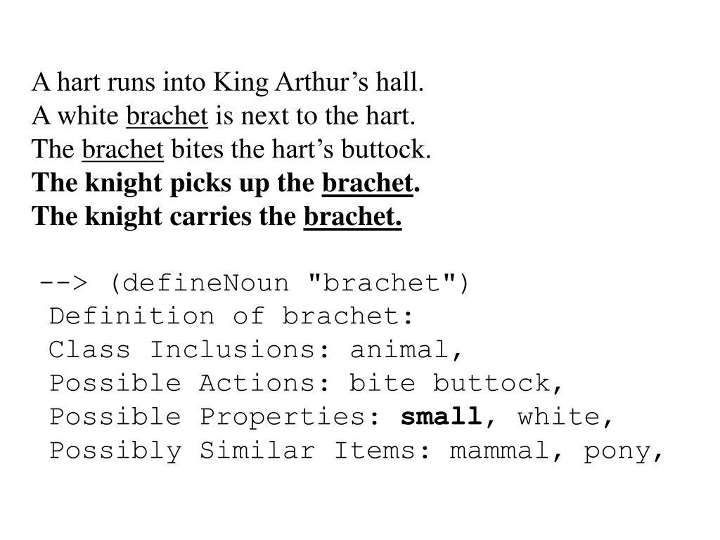 A hart runs into King Arthur's hall.