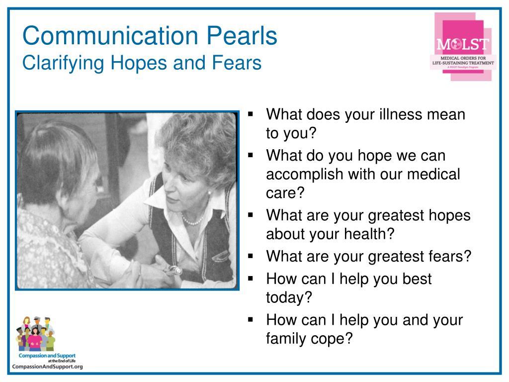 Communication Pearls
