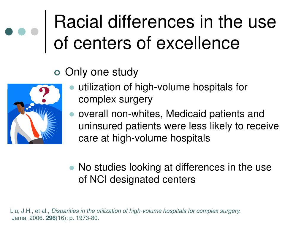 Racial differences in the use of centers of excellence