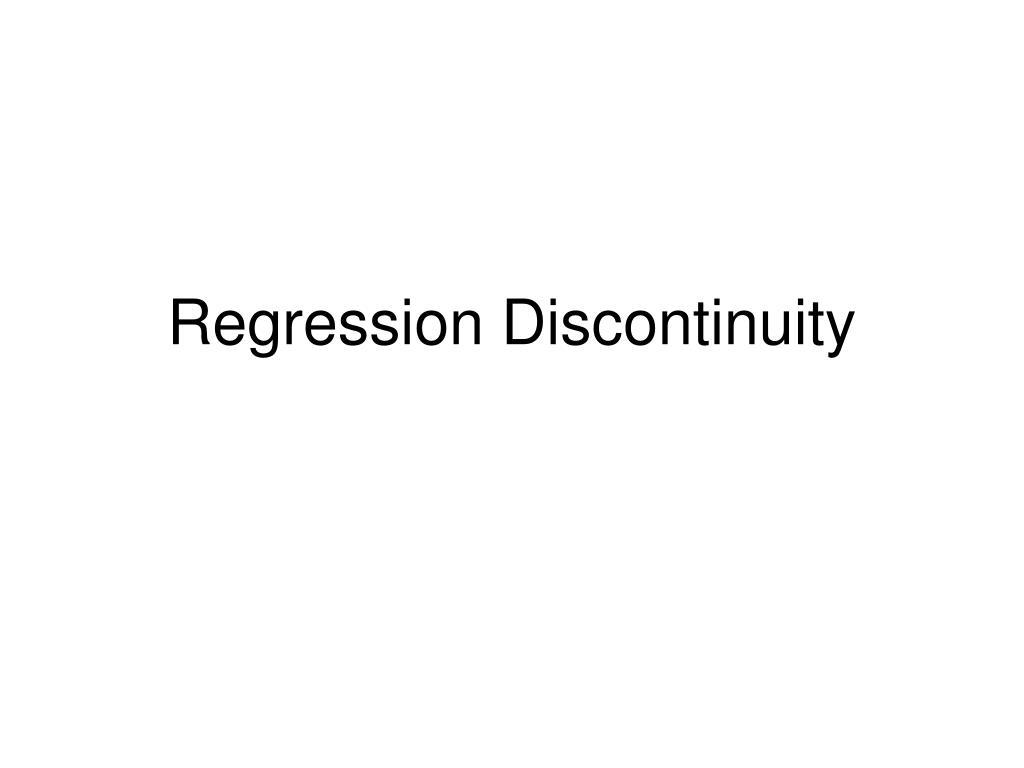 regression discontinuity l.