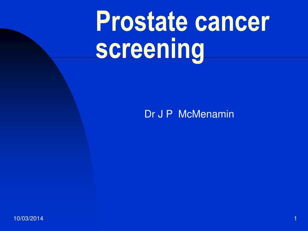 prostate cancer screening l.