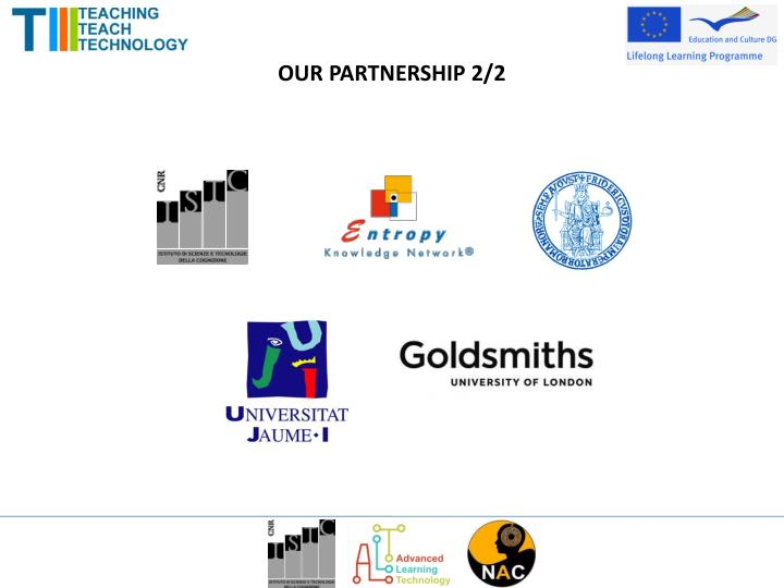 OUR PARTNERSHIP 2/2