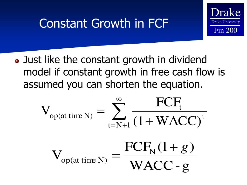 Constant Growth in FCF