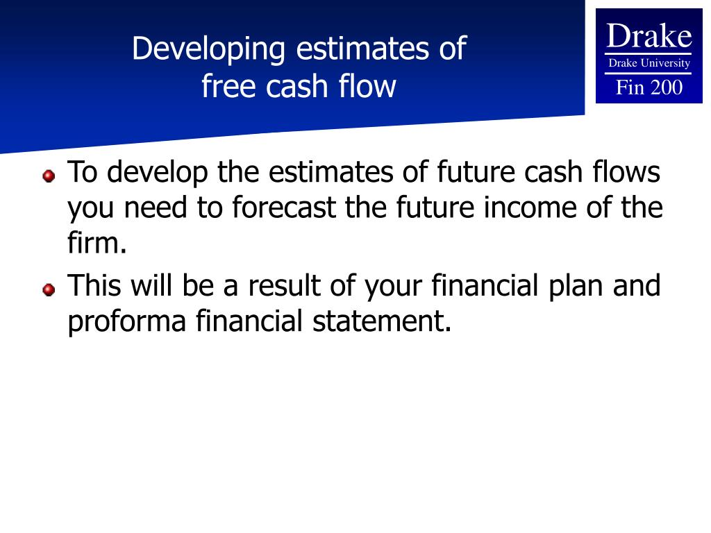 Developing estimates of