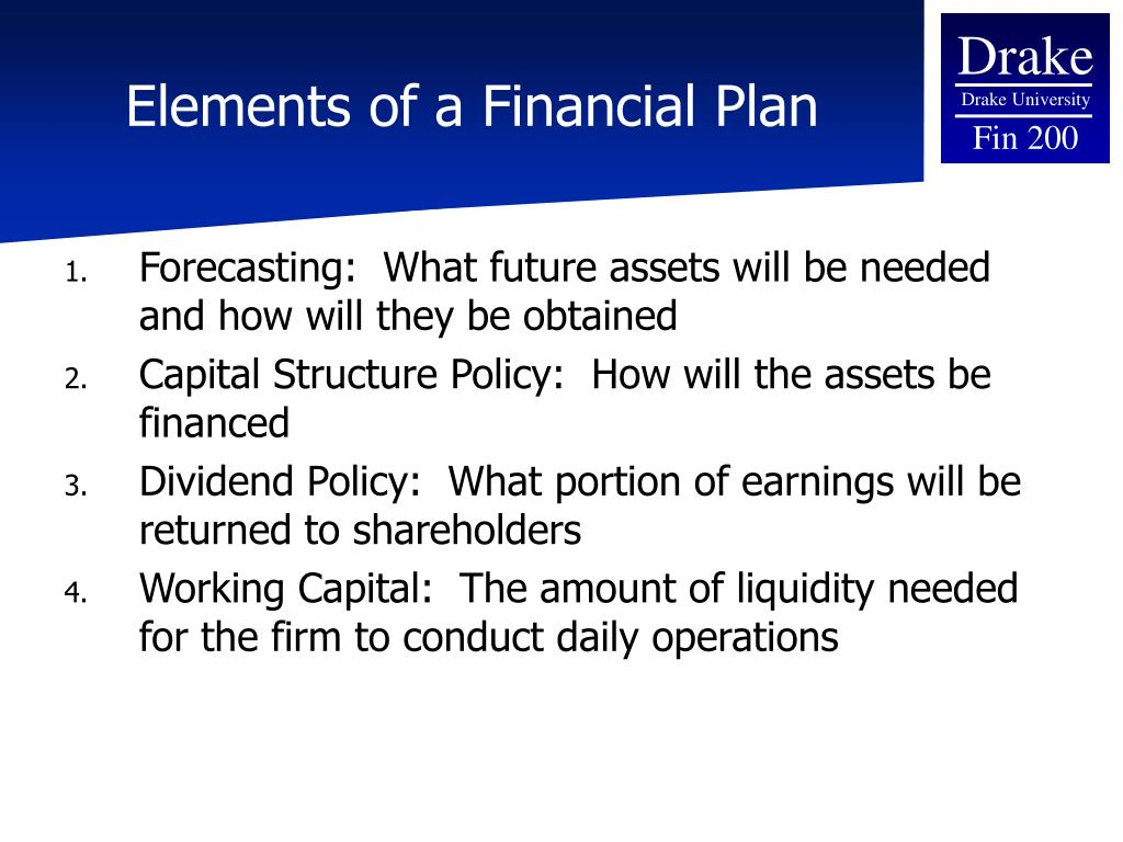Elements of a Financial Plan