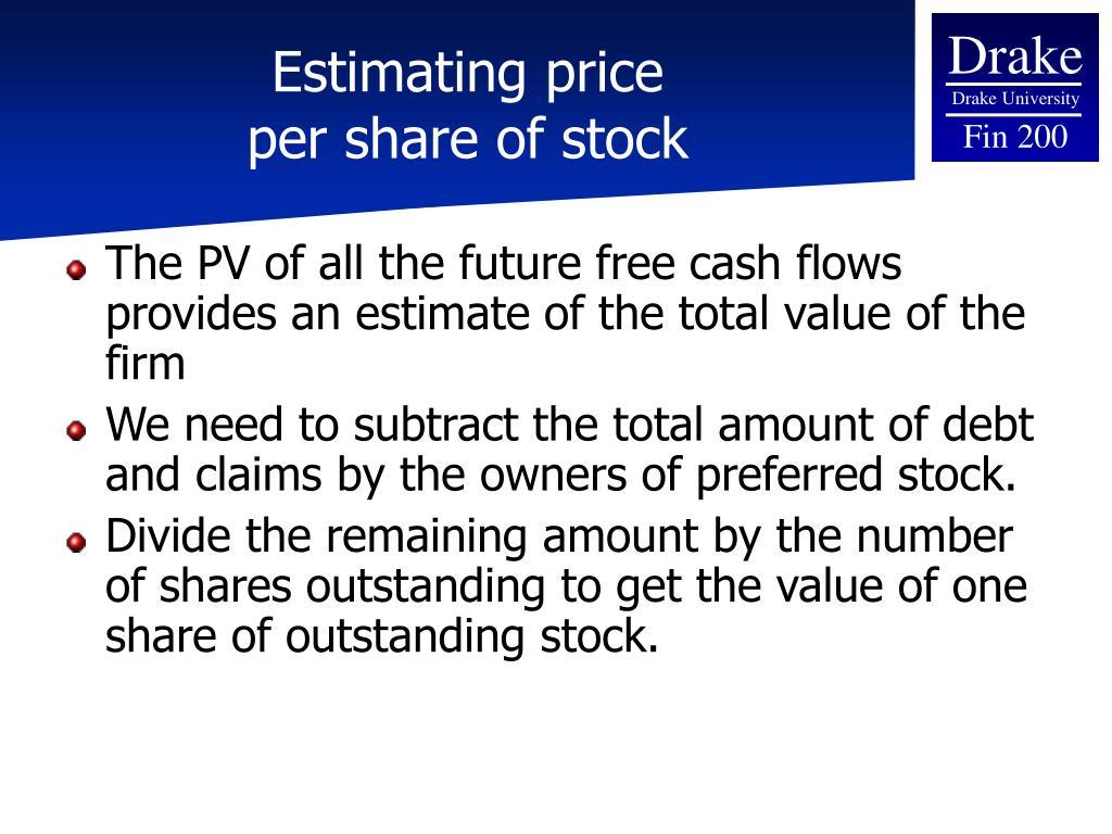 Estimating price