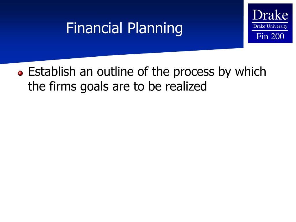 Financial Planning
