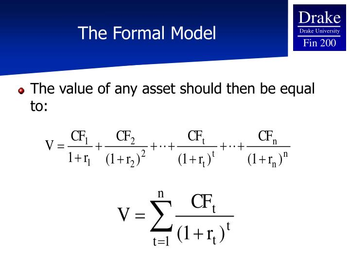 The formal model