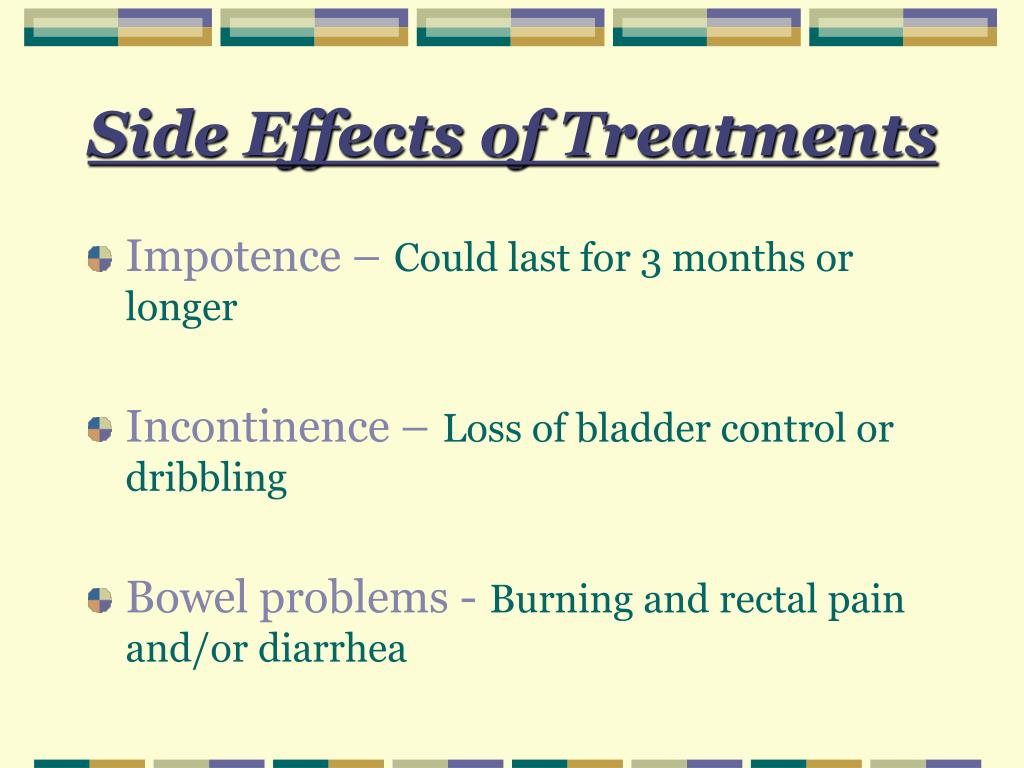 Side Effects of Treatments
