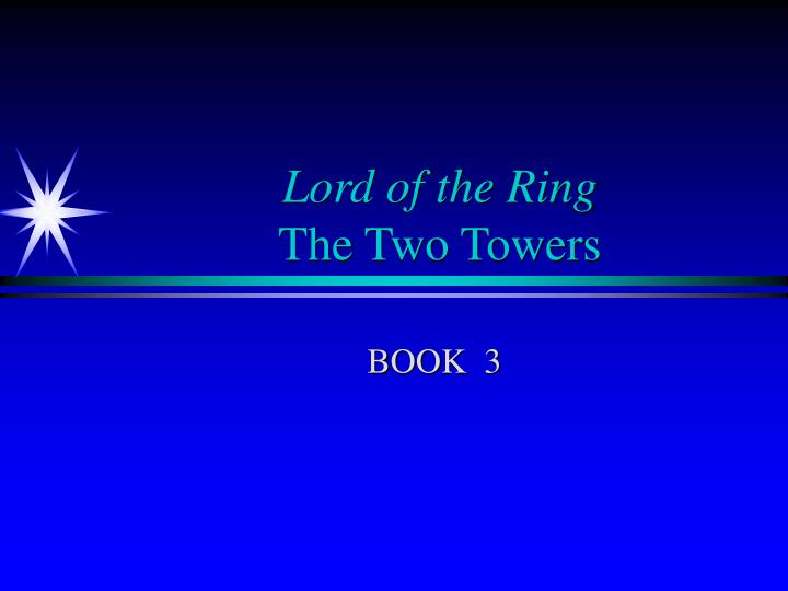 lord of the ring the two towers n.