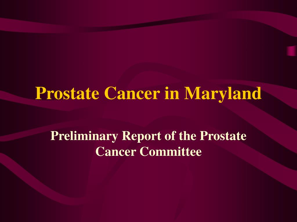prostate cancer in maryland l.