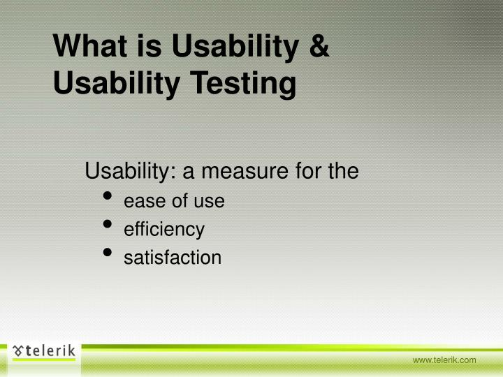 What is usability usability testing