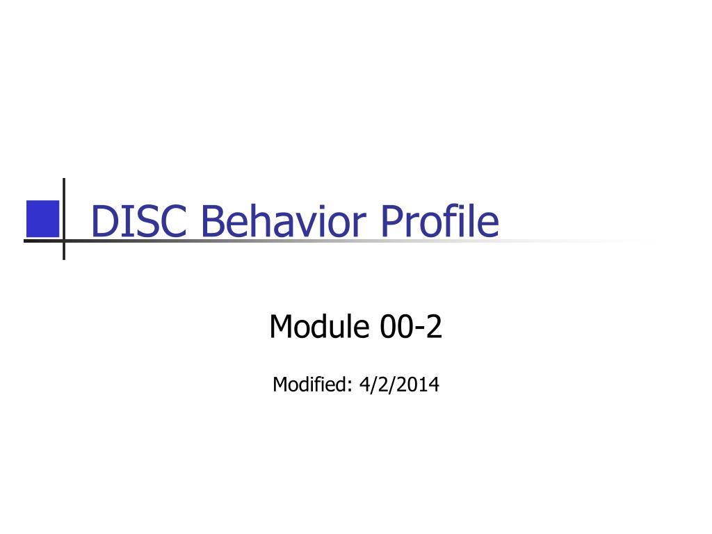 DISC Behavior Profile