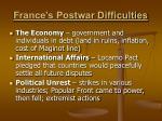 france s postwar difficulties
