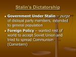 stalin s dictatorship