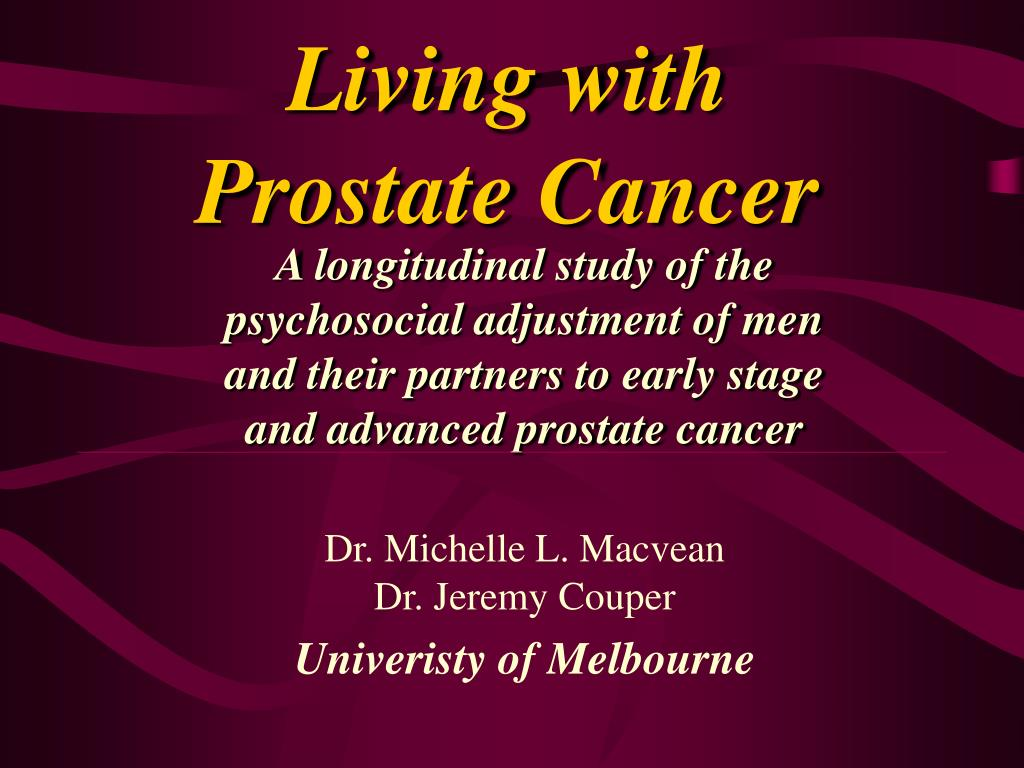 living with prostate cancer l.