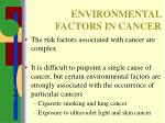 environmental factors in cancer