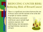 reducing cancer risk reducing risk of breastcancer