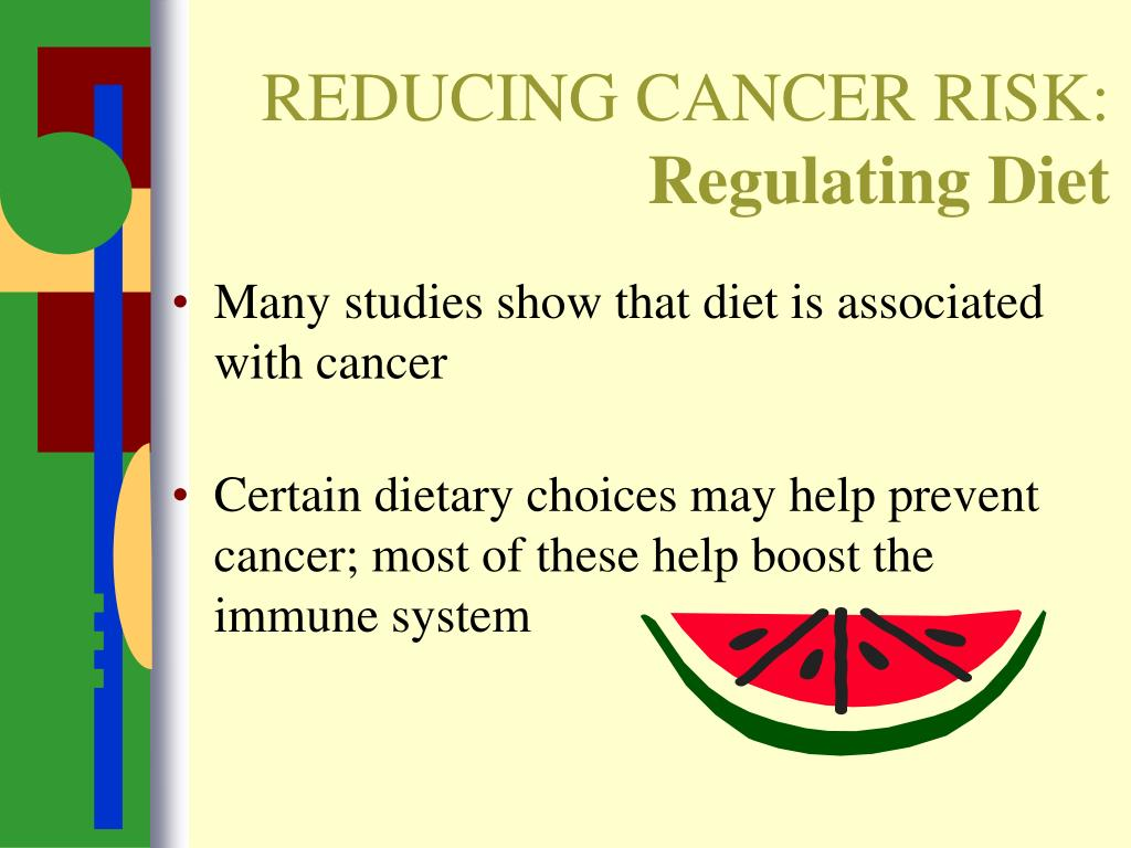 REDUCING CANCER RISK: