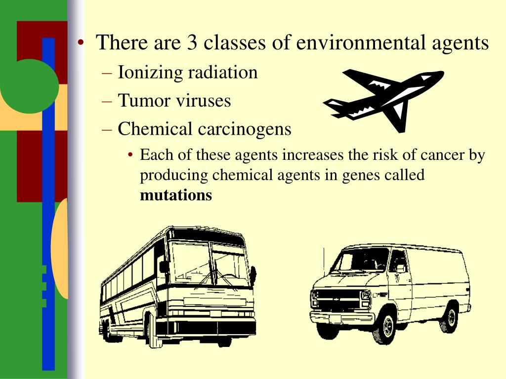 There are 3 classes of environmental agents