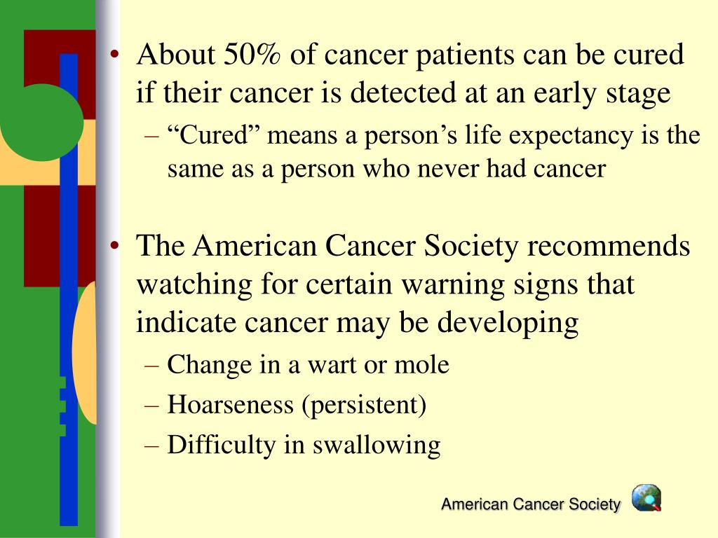 About 50% of cancer patients can be cured if their cancer is detected at an early stage