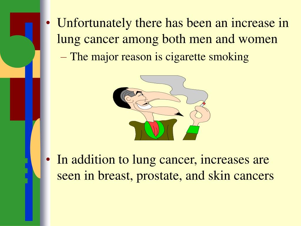 Unfortunately there has been an increase in lung cancer among both men and women